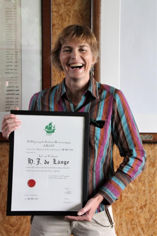 Marieke de Lange benoemd tot Lid van Verdienste